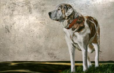 Mastín|PinturadeEnrique González| Compra arte en Flecha.es