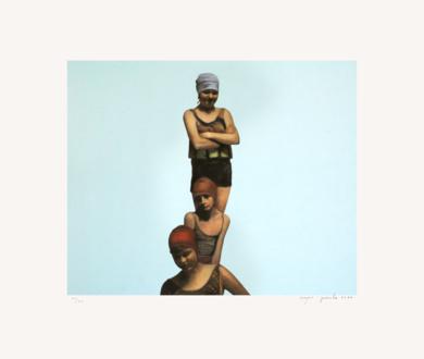 Tres bañistas|Obra gráficadeEnrique González| Compra arte en Flecha.es