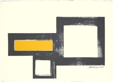 GEOMETRIC YELLOW 17-02|Collagedealberto latini| Compra arte en Flecha.es
