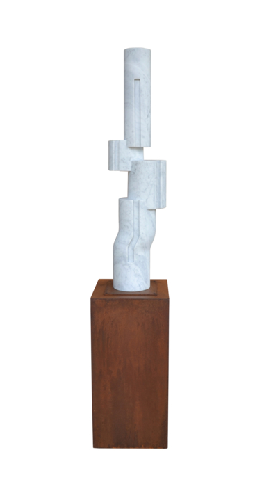 Composición cilíndrica sobre línea IV|EsculturadeBorja Barrajón| Compra arte en Flecha.es