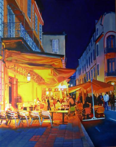 LE CAFE  LA NUIT  VAN GOGH|PinturadeJose Belloso| Compra arte en Flecha.es