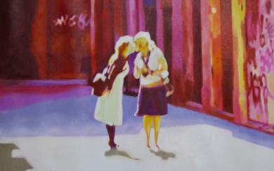 EL BESO|PinturadeJose Belloso| Compra arte en Flecha.es