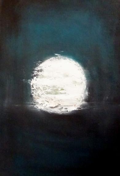 """Lunar Sea"" Paso 9|PinturadeEsther Porta| Compra arte en Flecha.es"