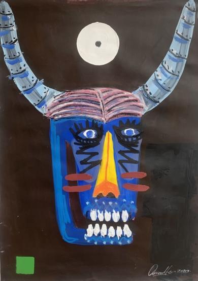 Dos cabezas de toro 01|DibujodeCARLOS QUIRALTE| Compra arte en Flecha.es