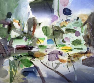 El jardín colorido|PinturadeLuis Kerch| Compra arte en Flecha.es