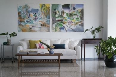 El jardín|PinturadeLuis Kerch| Compra arte en Flecha.es