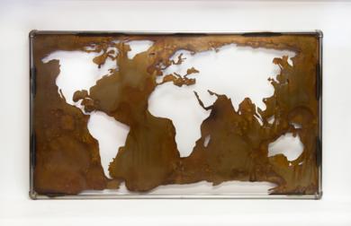 MAPA MUNDI XXVI|Escultura de pareddeMaría Hervás| Compra arte en Flecha.es