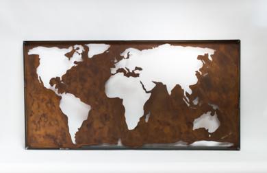 MAPA MUNDI XXVII|Escultura de pareddeMaría Hervás| Compra arte en Flecha.es