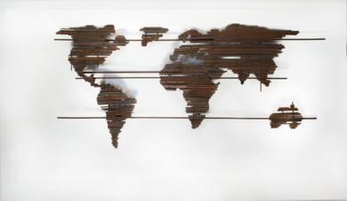 MAPA MUNDI XXIX|Escultura de pareddeMaría Hervás| Compra arte en Flecha.es