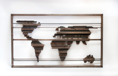 MAPA MUNDI XXVIII|Escultura de pareddeMaría Hervás| Compra arte en Flecha.es