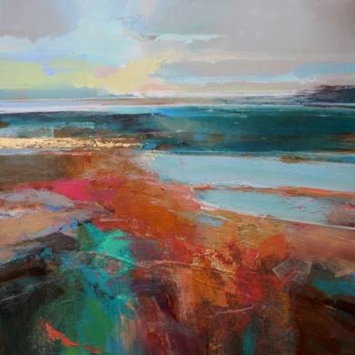 Walking At Low Tide (La Bajamar)|PinturadeMagdalena Morey| Compra arte en Flecha.es