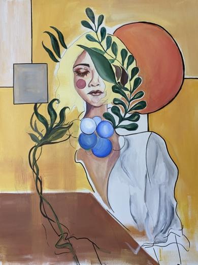 Las formas de la naturaleza ayudan a olvidar las penas de la vida|PinturadeFederica| Compra arte en Flecha.es