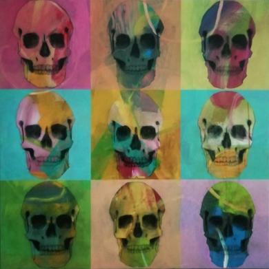 Skulls|PinturadeFrancisco Santos| Compra arte en Flecha.es