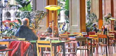 Terraza en invierno 2|PinturadeJose Belloso| Compra arte en Flecha.es