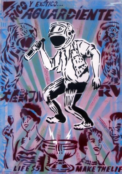 Aguardiente|PinturadeCarlos Madriz| Compra arte en Flecha.es
