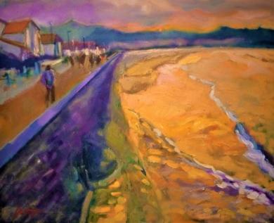 Atardecer en invierno|PinturadeJosé Bautista| Compra arte en Flecha.es