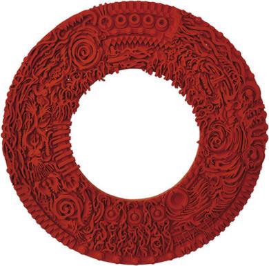 La rueda roja|PinturadeNacho  Angulo| Compra arte en Flecha.es