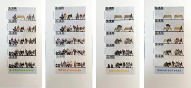 ANCIANÓMETRO .  (Incidencia de la climatología estacional en la afluencia de ancianos a las plazas)|Obra gráficadeAna Valenciano| Compra arte en Flecha.es