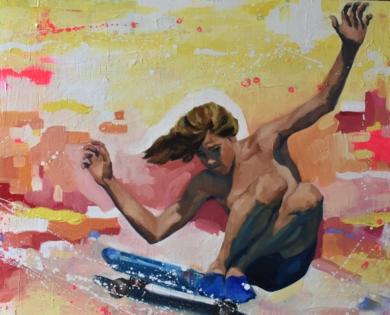 Derrapando|PinturadeTeresa Infiesta| Compra arte en Flecha.es