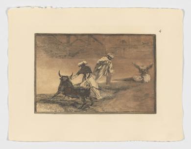 La Tauromaquia. Capean otro encerrado (Estampa 4)|Obra gráficadeFrancisco de Goya y Lucientes| Compra arte en Flecha.es
