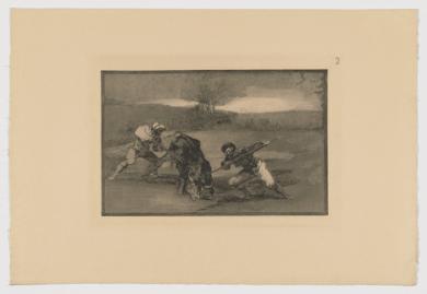 La Tauromaquia. Otro modo de cazar a pie (Estampa 2)|Obra gráficadeFrancisco de Goya y Lucientes| Compra arte en Flecha.es