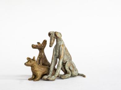 Mis tres pastores alemanes|EsculturadeAna Valenciano| Compra arte en Flecha.es
