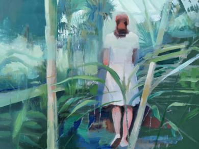 Paseo en el Botánico|PinturadeCarmen Montero| Compra arte en Flecha.es