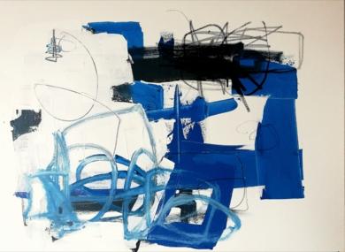 Azul|PinturadeIVÁN MONTAÑA| Compra arte en Flecha.es