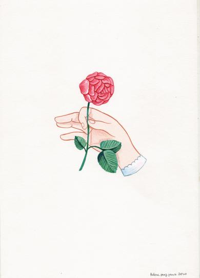 Mano con flor V|DibujodeHelena Perez Garcia| Compra arte en Flecha.es