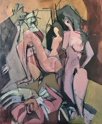 Mujeres con Cupido|PinturadeOscar Leonor| Compra arte en Flecha.es