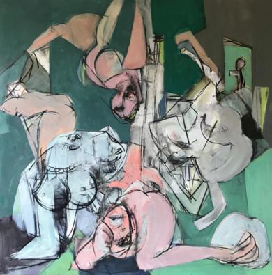 Vida en Venus|PinturadeOscar Leonor| Compra arte en Flecha.es
