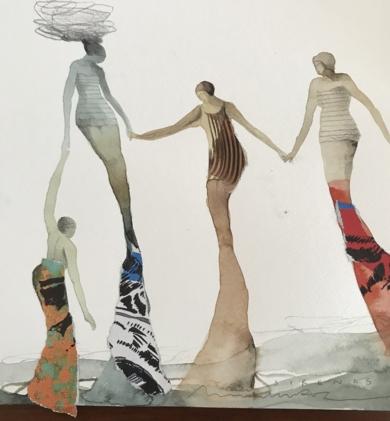 Sincronía II|CollagedeMenchu Uroz| Compra arte en Flecha.es