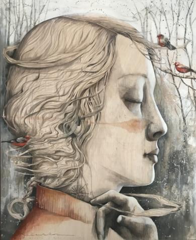Soñar Vientos o invierno|DibujodeMenchu Uroz| Compra arte en Flecha.es