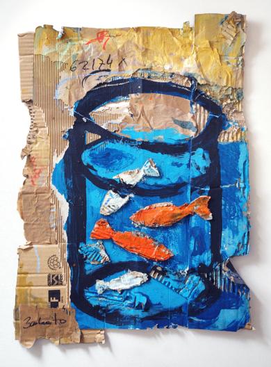 LA PECERA|CollagedeBARBEITO| Compra arte en Flecha.es