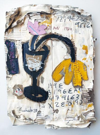 ROSA Y AMARILLA|CollagedeBARBEITO| Compra arte en Flecha.es