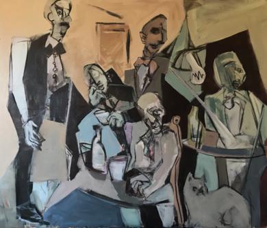 Café triste|PinturadeOscar Leonor| Compra arte en Flecha.es