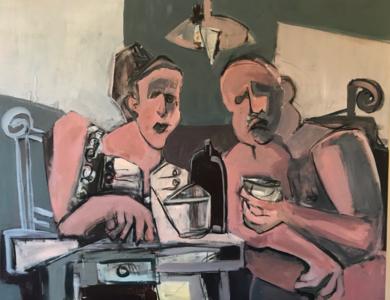 Discusión kantiana|PinturadeOscar Leonor| Compra arte en Flecha.es