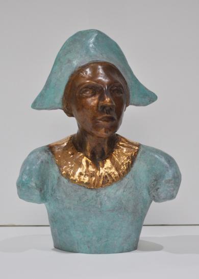 El busto del arlequín.|EsculturadeJenifer Carey| Compra arte en Flecha.es
