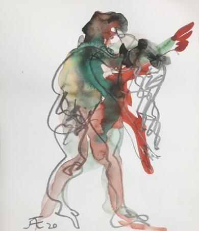 Hombre Plus|DibujodeJaelius Aguirre| Compra arte en Flecha.es