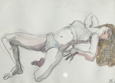 La Melena|DibujodeJaelius Aguirre| Compra arte en Flecha.es