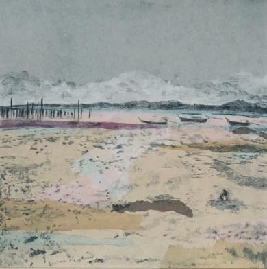 """Playa de Ko Yao Yai II""|CollagedeLeticia González Serrano| Compra arte en Flecha.es"