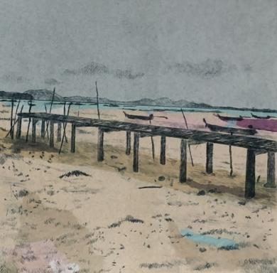 """Playa de Ko Yao Yai I""|CollagedeLeticia González Serrano| Compra arte en Flecha.es"