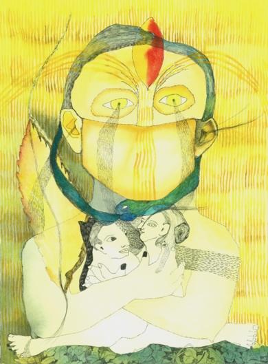Chorar, El otoño abrazado. Tercera fuente.|DibujodeReme Remedios| Compra arte en Flecha.es
