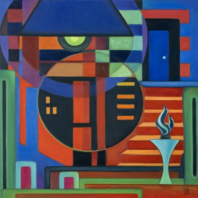 The Blue Door|PinturadeHelena Revuelta| Compra arte en Flecha.es