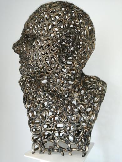 CABEZA ROMANA|EsculturadePablo Rebollo Pérez| Compra arte en Flecha.es