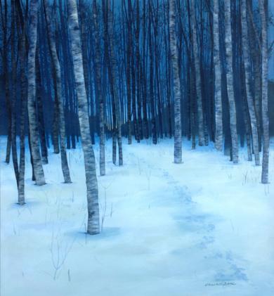 Bosque nevado|PinturadeCharlotte Adde| Compra arte en Flecha.es