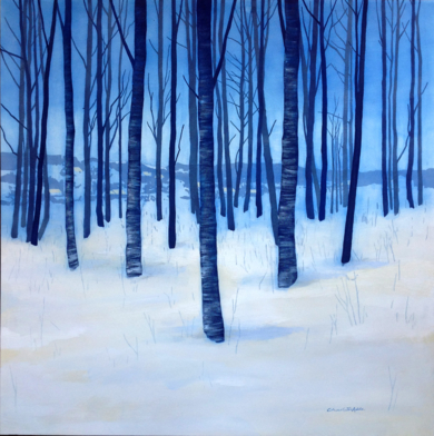 Bosque invernal|PinturadeCharlotte Adde| Compra arte en Flecha.es