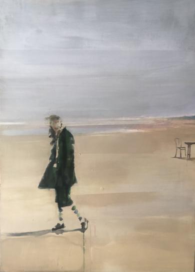 Figura en la playa 1|PinturadeAna Alcaraz| Compra arte en Flecha.es