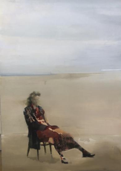 Figura en la plata II|PinturadeAna Alcaraz| Compra arte en Flecha.es