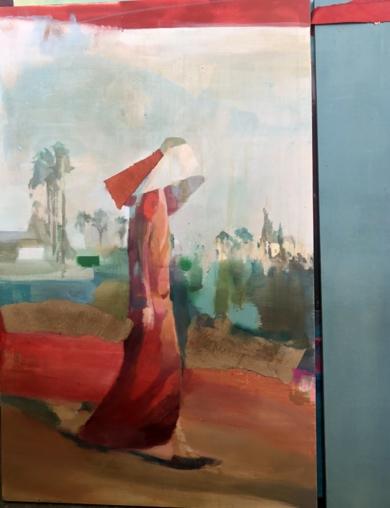 Figura entre trigales I diptico|CollagedeAna Alcaraz| Compra arte en Flecha.es